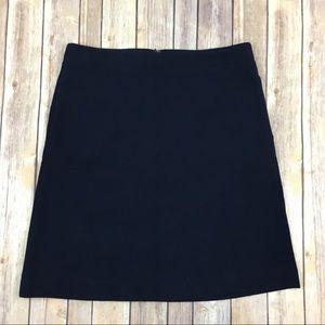 Talbots Rib Knit Straight Career Skirt Navy Blue